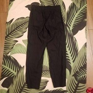 J Jill linen stretch black slacks pants 0 petite